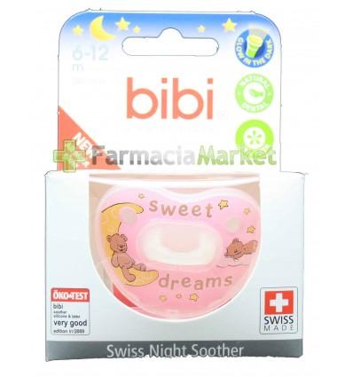 Bibi Chupete Silicona Noche Rosa 6-12 meses