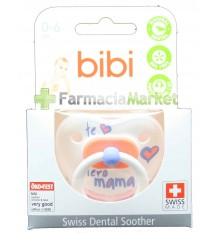 Bibi Soother Silicone I love you mama 0-6 months