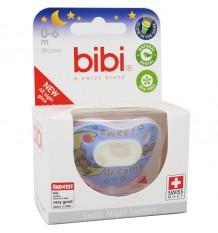 Bibi Sucette Silicone Nuit 0-6 mois Bleu