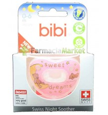 Bibi Soother Silicone Night pink 0-6 months