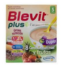 Blevit Plus Duplo 8 Cereais e Mel, Frutas 600 g