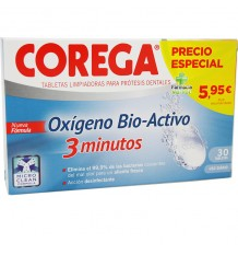 Corega Oxigênio biactivo 30 comprimidos efervescentes