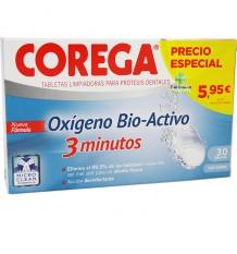 Corega Oxígeno biactivo 30 comprimidos efervescentes