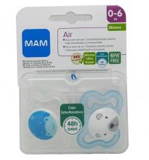 Mam Schnuller Air Blau Silikon 0-6 Monate