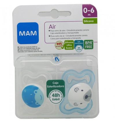 Mam Chupete Air Silicona Azul 0-6 meses