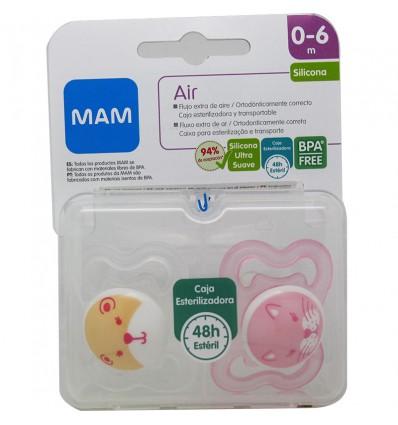 Mam Chupete Air Silicona Rosa 0-6 meses
