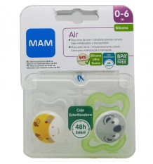 Mam Chupete Air Silicona Verde 0-6 meses