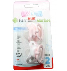 Nuk Pacifier Silicone Rose T2 2 units