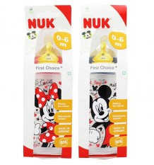 Nuk Biberon Latex Mickey 1M 300 ml