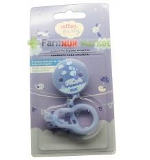 Nuk Chain pacifier cotton party blue