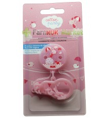 Nuk Schnuller Kette Baumwolle party pink