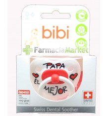 Bibi Soother Silicone Pope the best red 0-6 months