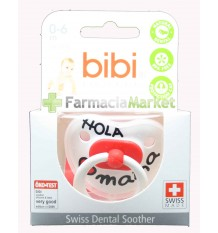 Bibi Soother Silicone Hello mama red 0-6 months