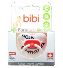 Bibi Soother Latex Hello Mama red 12-36 months
