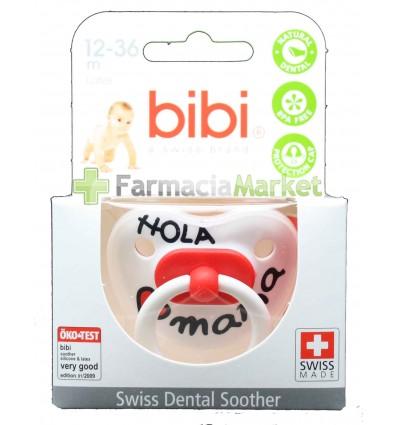 Bibi Chupete Latex Hola Mama rojo 12-36 meses