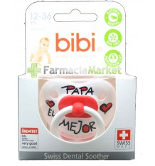 Bibi Soother Silicone Pope the best Red 12-36 months