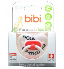 Bibi Soother Silicone Hello Mama Red 12-36 months