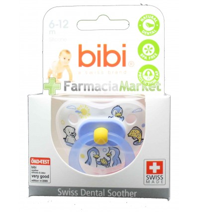 Bibi Chupete Silicona Azul 6-12 meses