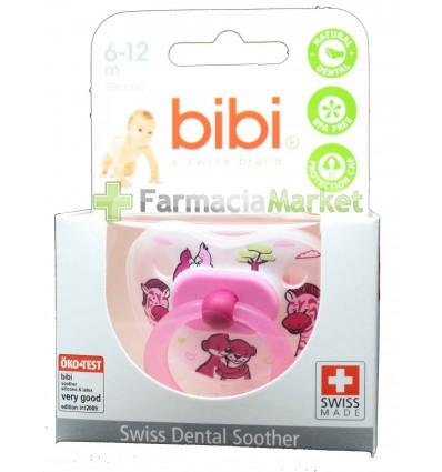 Bibi Chupete Silicona Rosa 6-12 meses