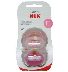 Nuk Chupete Latex Travel T1 Paris 2 unidades