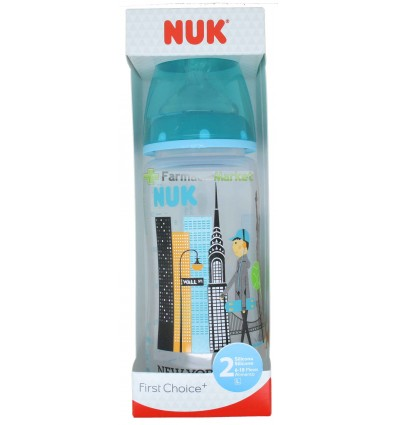 Nuk Biberon Silicona Travel 2L Niño 300ml