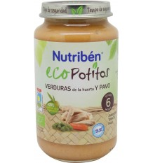 Nutriben Eco Potitos Turkey vegetables 250g