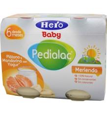 pedialac merienda platano mandarina yogur