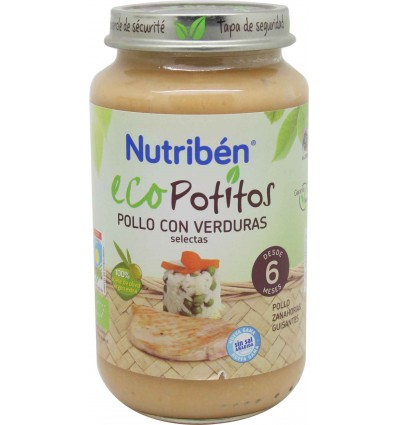 nutriben eco potitos pollo verduras 250