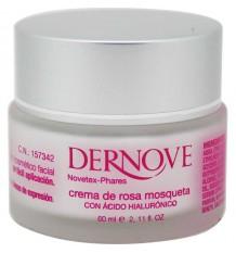 Dernove Crème de Rose musquée huile de graines de l'acide hyaluronique 60 ml