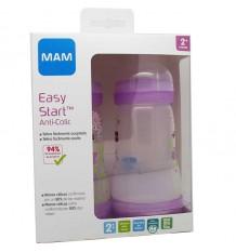 Mam Baby Bottle Anticolico 260 ml pink Pack Duplo