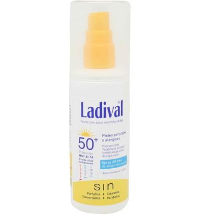 ladival protector solar 50 spray piel sensible