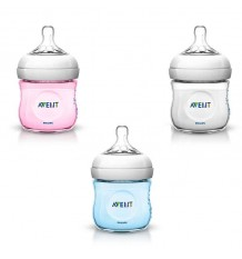 Avent biberon natural 125 ml colores