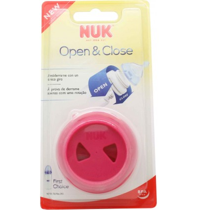 nuk sistema open close antiderrame biberon