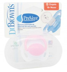 Dr Browns Pacifier Orthodontic Prevent Pink size 18 months