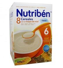 Nutriben Cereal 8 Cereal Honey Calcium 600 g