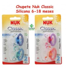Nuk Pacifier Silicone Classic T2 6-18 2 units