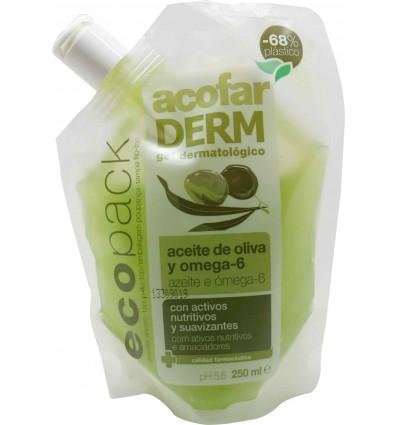 Gel de baño aceite de oliva ecopack 250