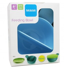 mam baby bowl feeding baby blue