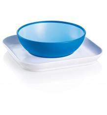 mam baby Teller und Schüssel-blau