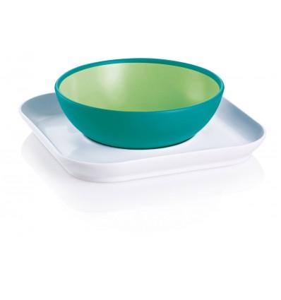 bol y plato mam baby verde
