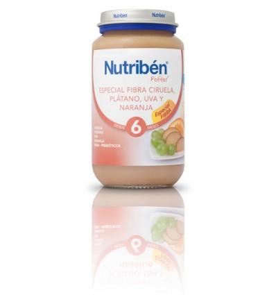 Nutriben Potito Fibra Ciruela Platano Uva Naranja 250g