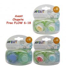 Chupeta Avent Free Flow 6 - 18 meses