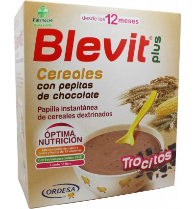 Blevit Plus Cereales Trocitos pepitas de chocolate 600