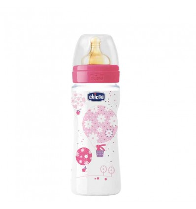 Chicco Biberon Fisiologico Latex Papilla 330 ml rosa