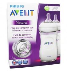 Avent Natural biberon 260 ml duplo formato de poupança