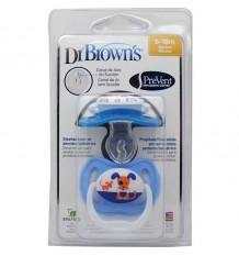 Dr browns Sucette Effectuer les 6 - 18 mois, bleu