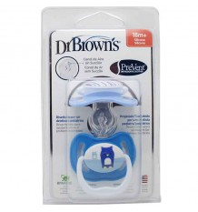 Dr Browns Chupete Prevent 18 meses azul