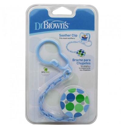 Dr Browns Broche chupete azul