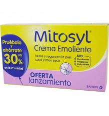 Mitosyl crème émolliente conteneur duplo épargne