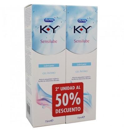 Durex K Y Sensilube Lubricante 75 ml Duplo Ahorro